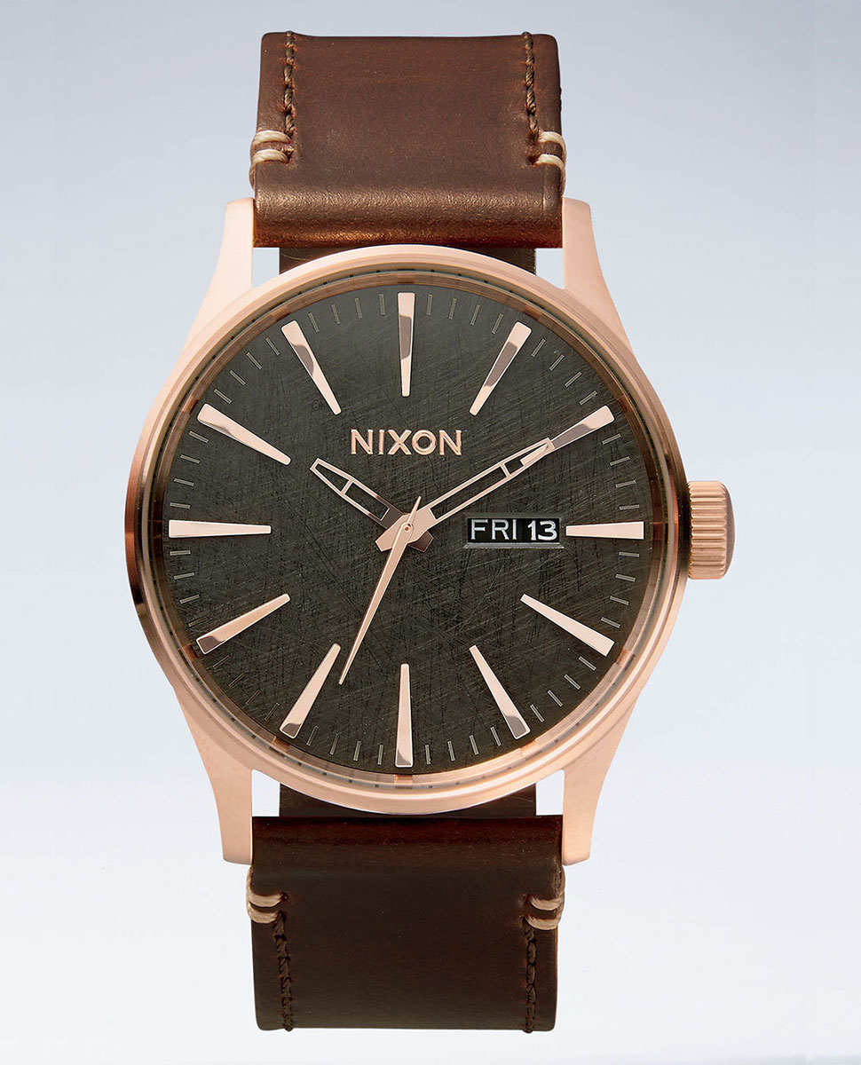 Nixon The Sentry Leather Watch ***