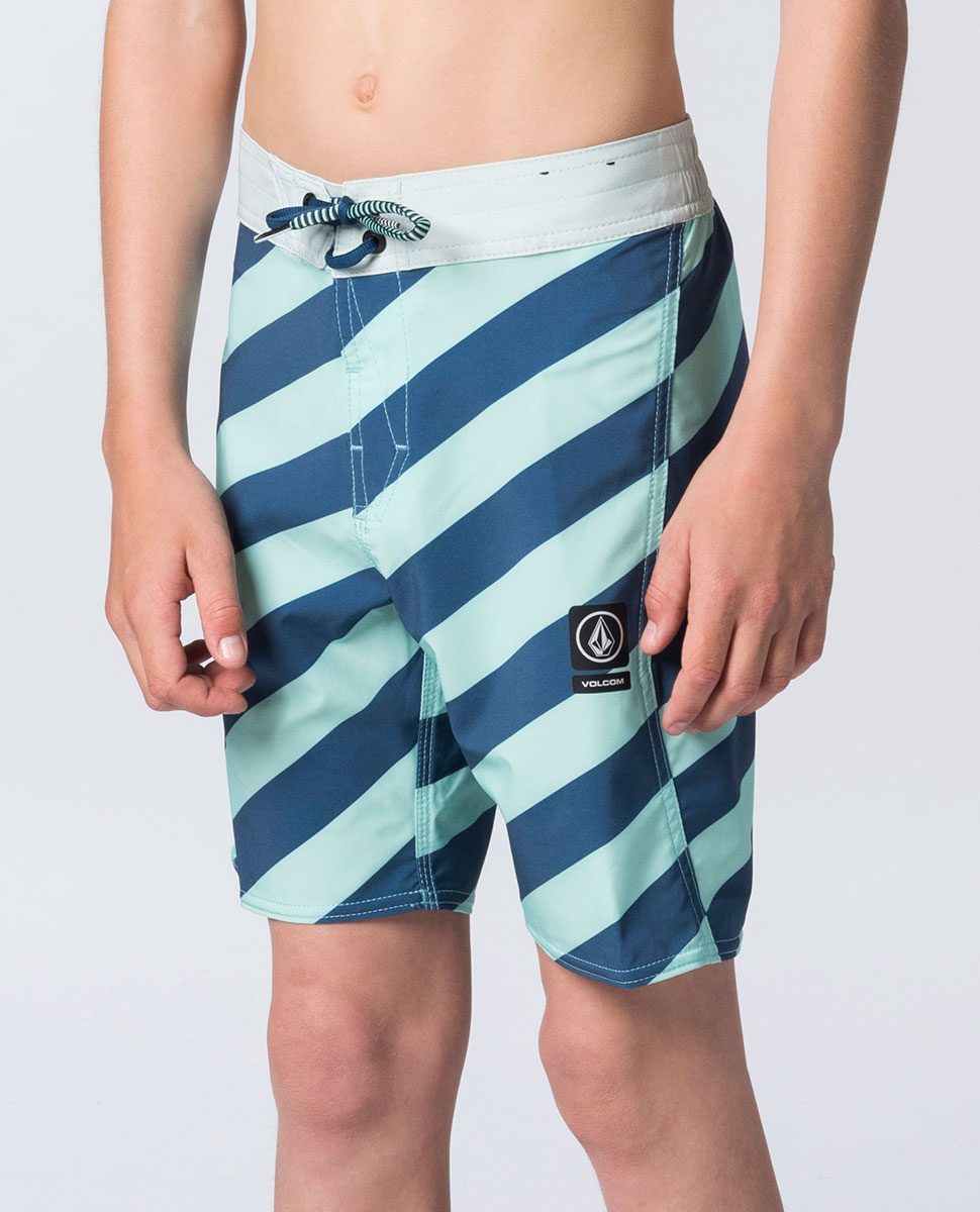 Stripey Elastic Boardshort - Boys