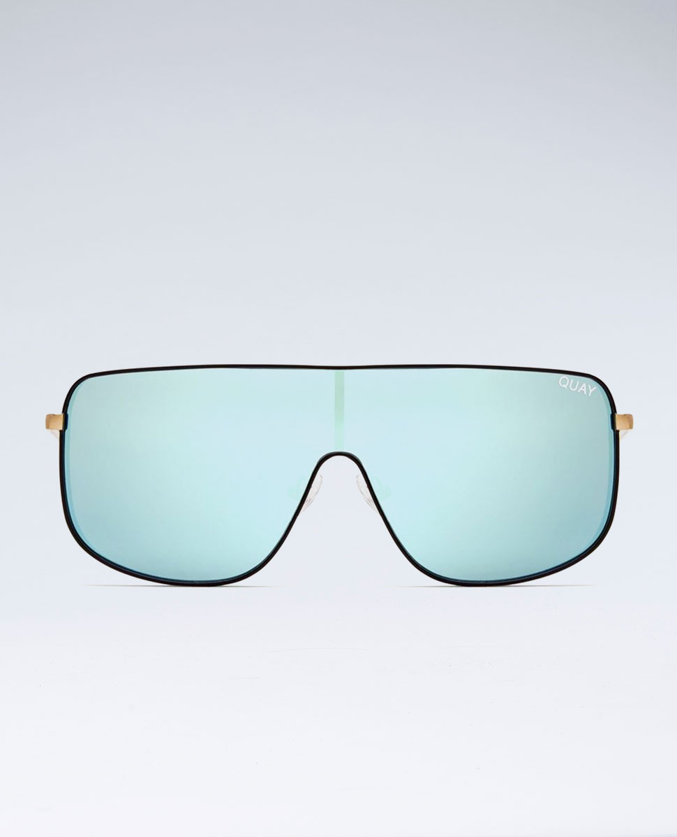 Kylie Unbothered Black/Mint Sunglasses