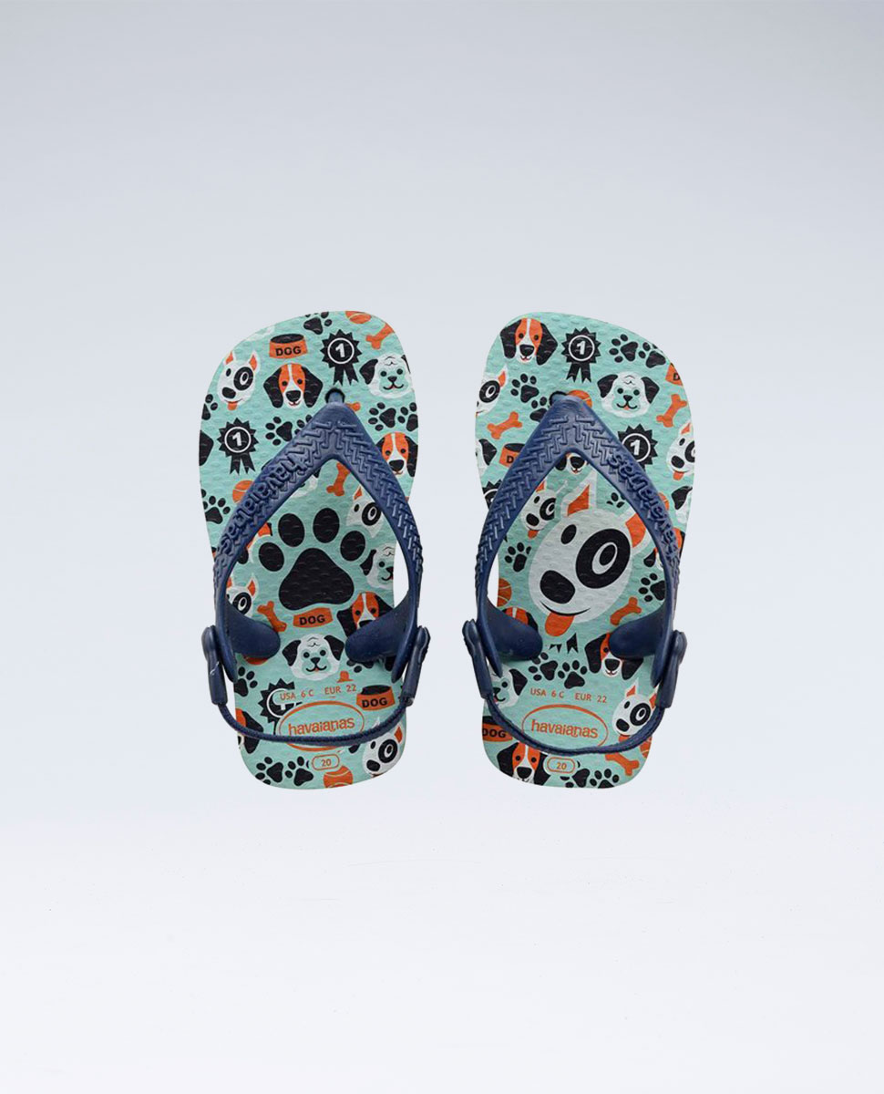 Pets Ice Blue/Navy Blue Thongs - Groms