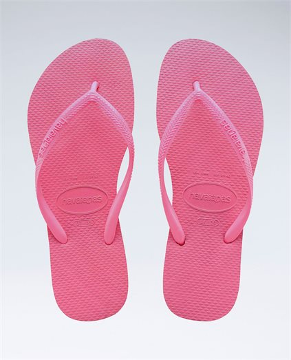Slim Basic Shocking Pink Thongs - Girls