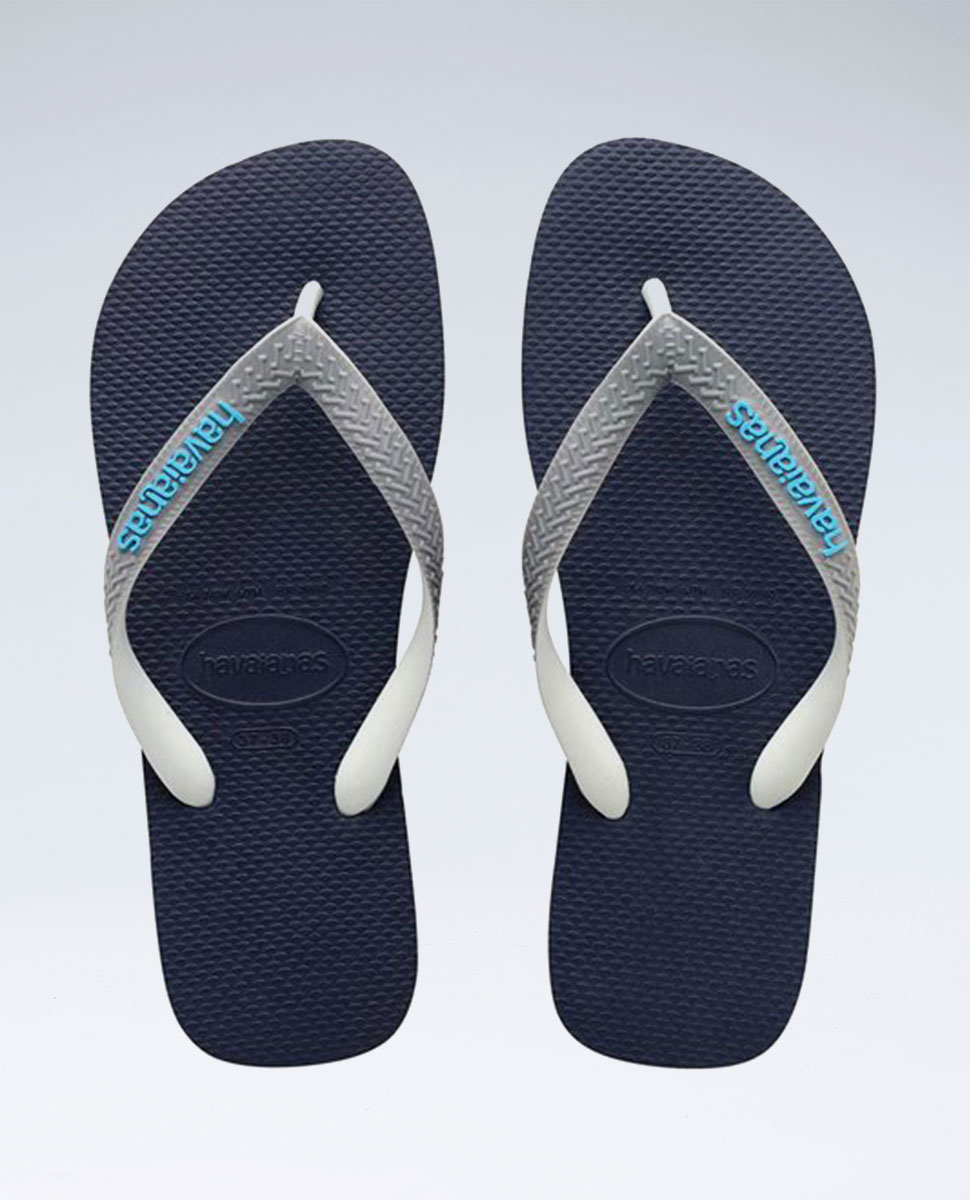 Top Mix Navy/Grey/Blue Thongs - Boys