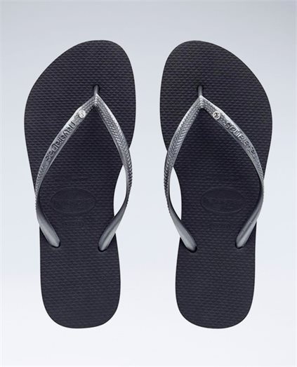 Slim Crystal Grey Thongs - Girls