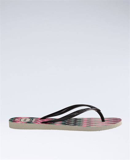 Slim Tribal White/Black/Pink Thongs - Girls