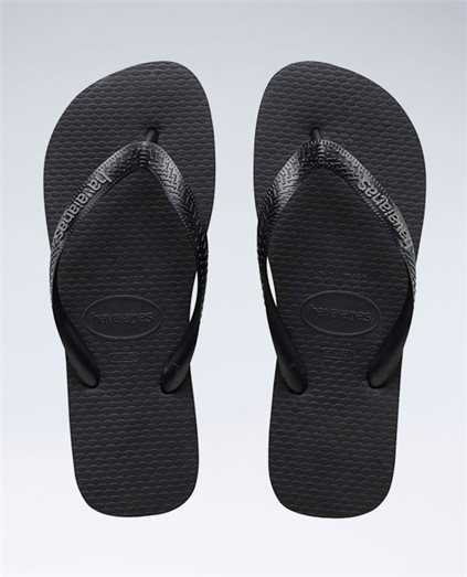 Rubber Logo Black/Steel Grey Thongs