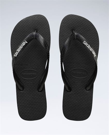 Rubber Logo Black/Glacial White Thongs