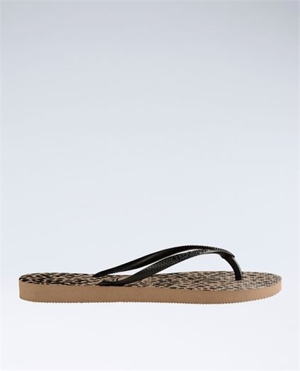 Slim Animal Gold Print Thongs