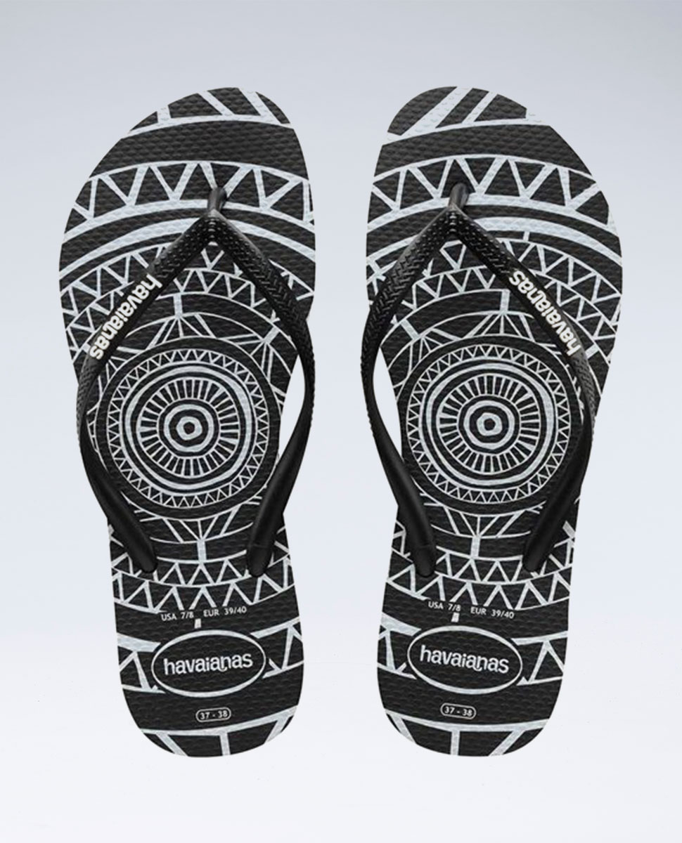 Slim Mandala Black/Black Thongs