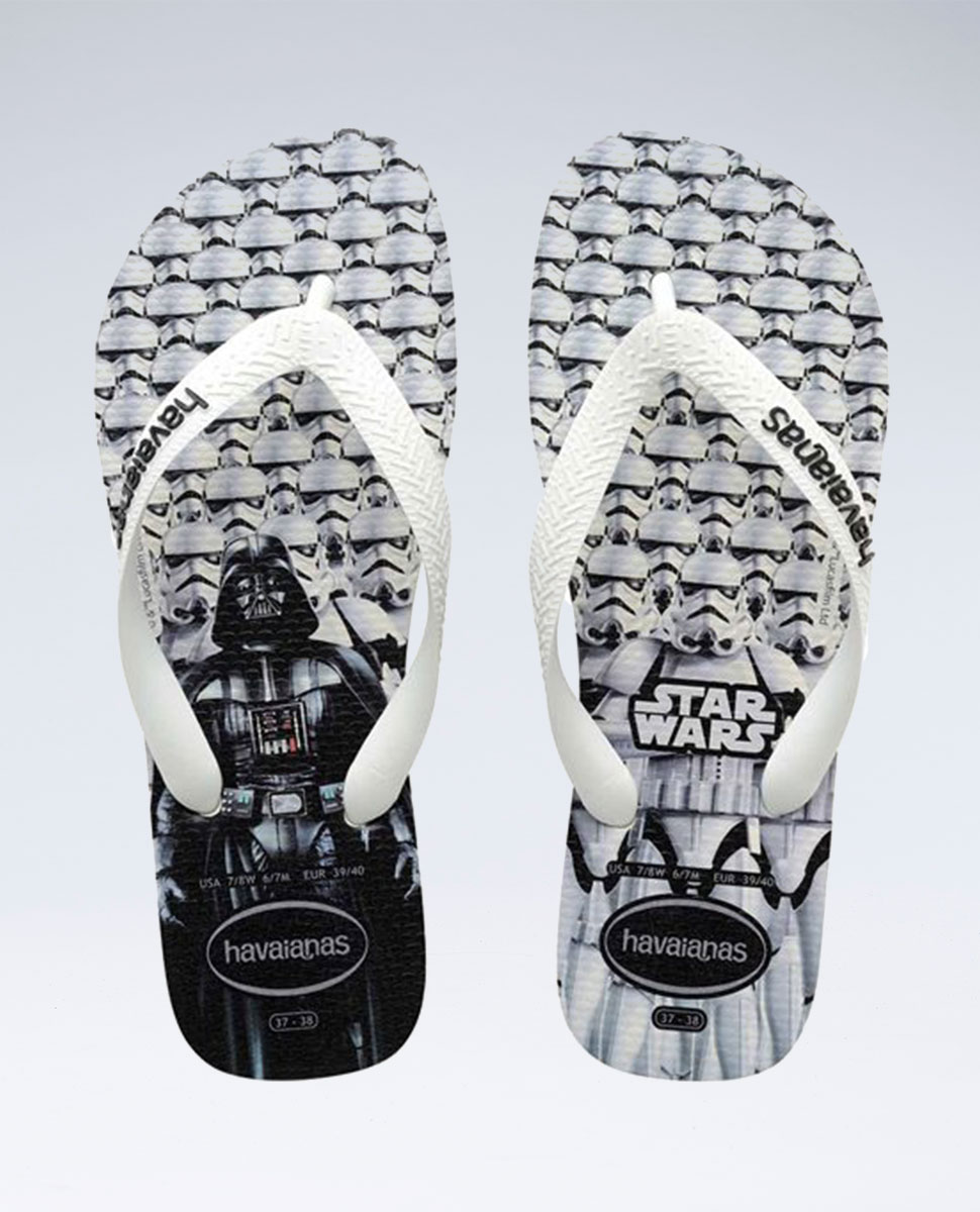Star Wars White/White Thongs