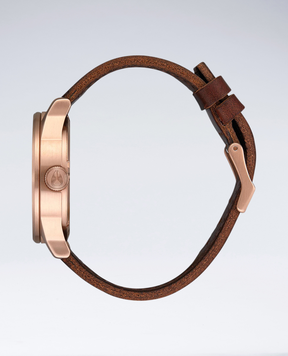 Nixon Sentry Rose Gold/Nvy Brown Watch