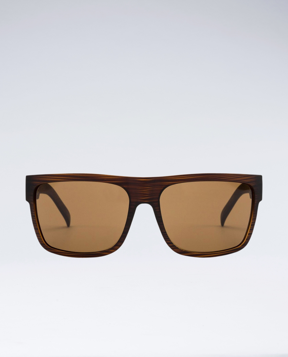 Road Trippin Woodland Matte Brown Polarised Sunglasses