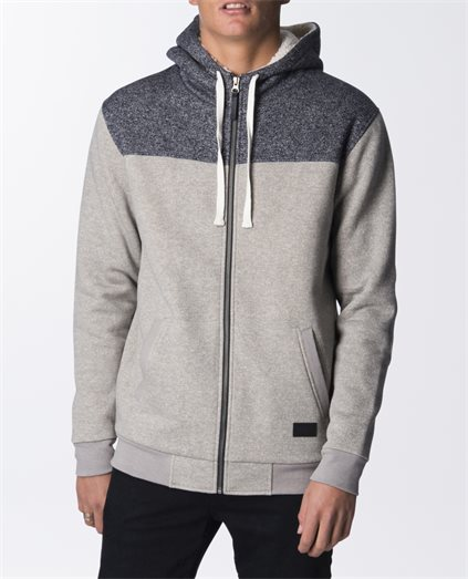 Arched Lined Zip Thru Hood