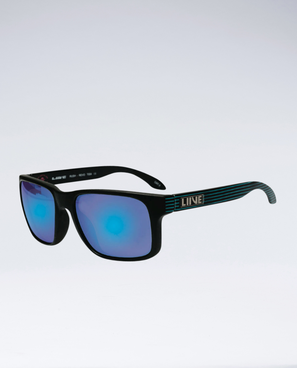 Rush Revo Black Neon Stripe Sunglasses