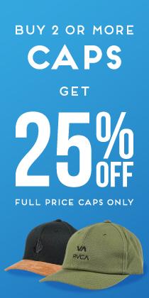 MEGA MENS BUY 2 CAPS GET 25% OFF