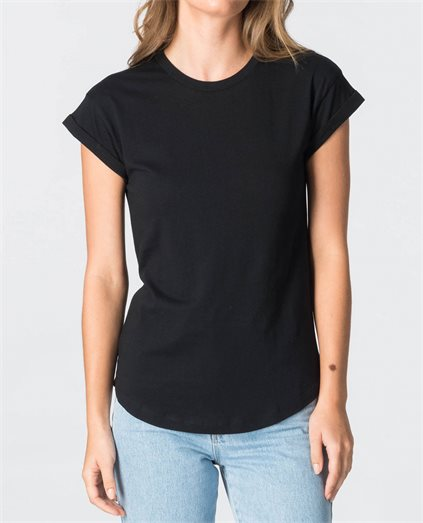 Alana Basic Roll Sleeve T-Shirt