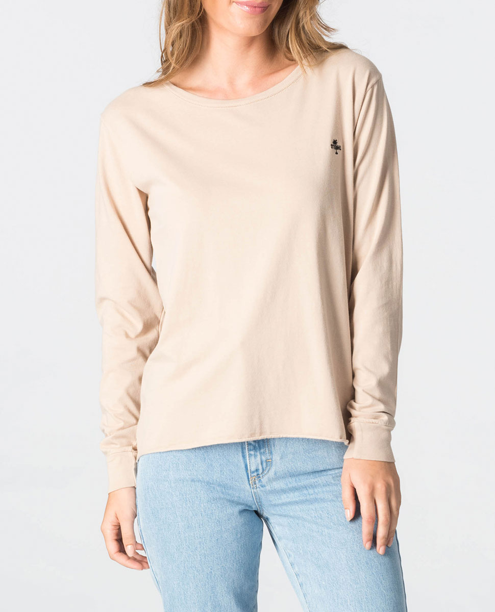 Palm Embro Long Sleeve T-Shirt