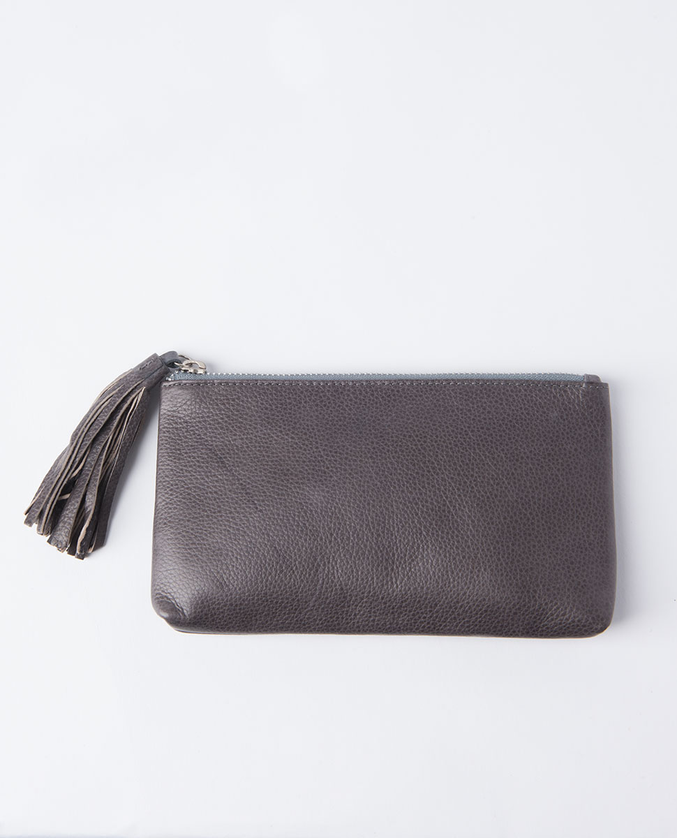 Coco Leather Tassle Purse