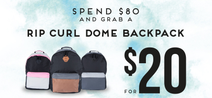 Megs Kids - Spend $80 and grab a Rip Curl Dome backpack for $20