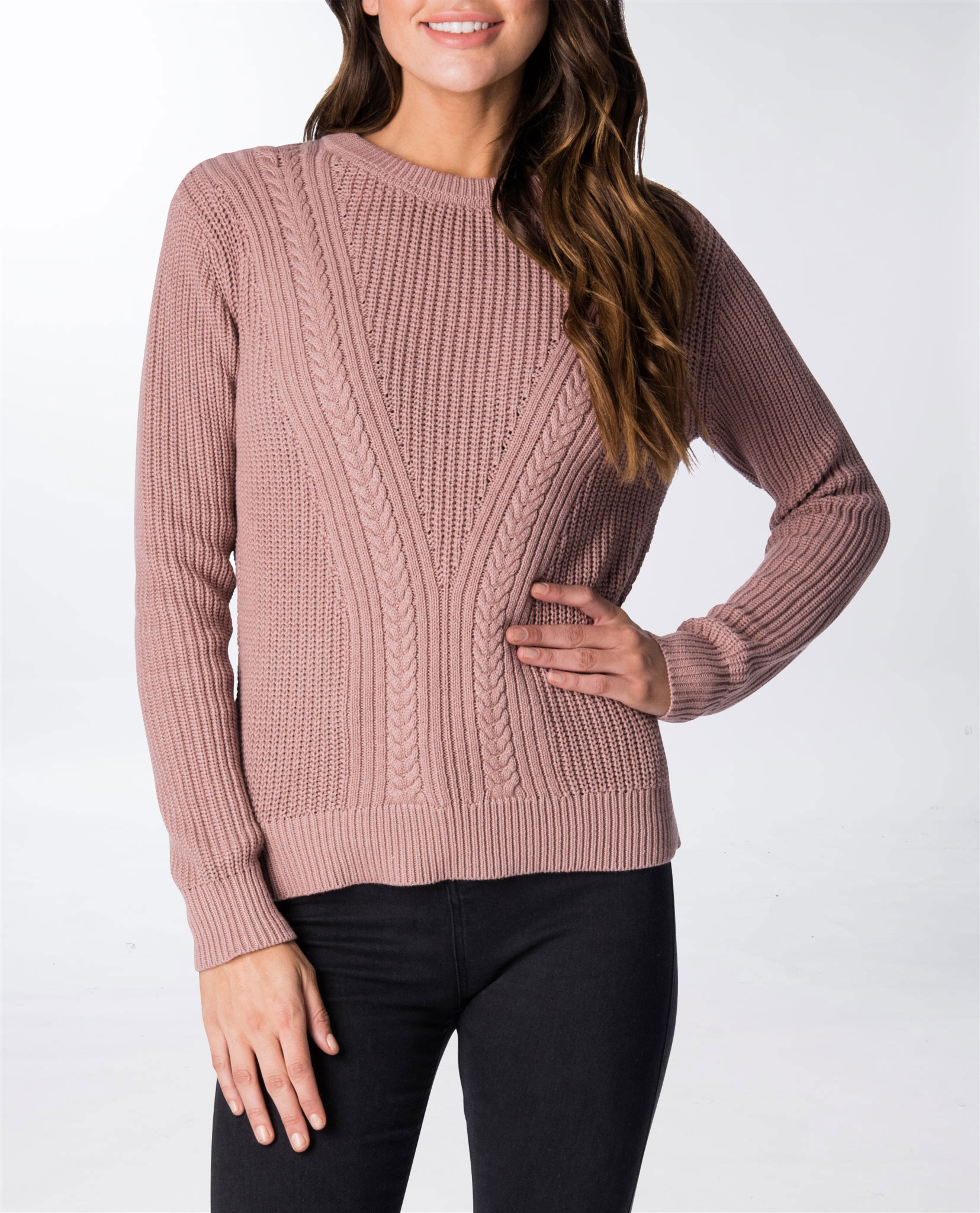 Cable Rail Crew Knit