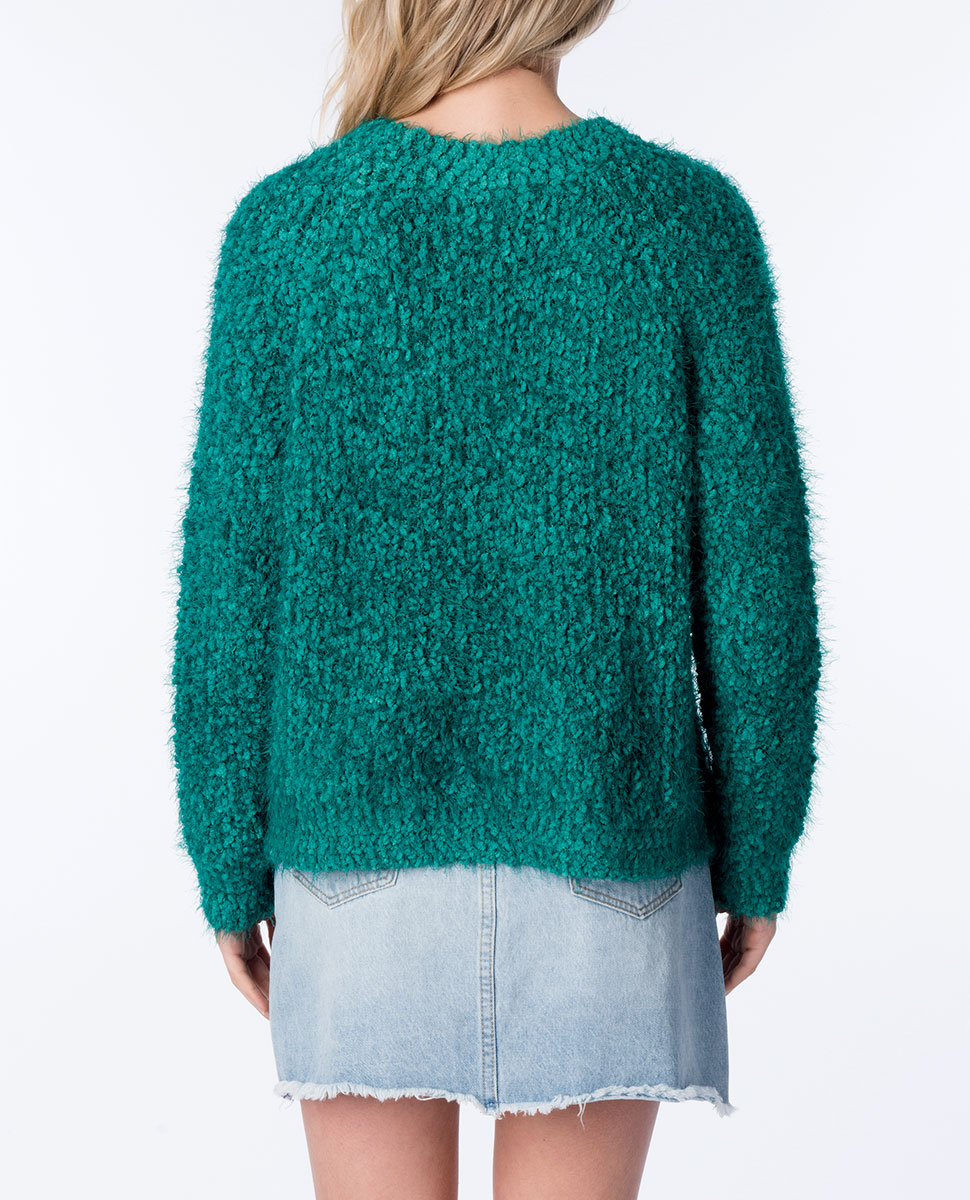 Knit Fluffy Raglan Jumper