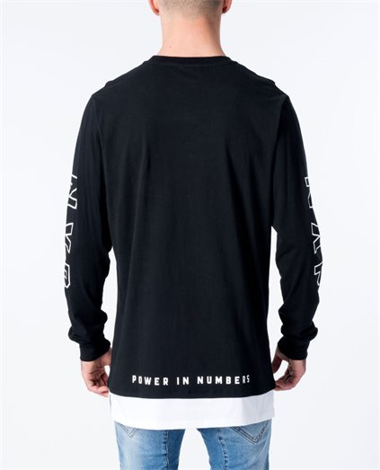 Survival Long Sleeve Layered Hem Tee