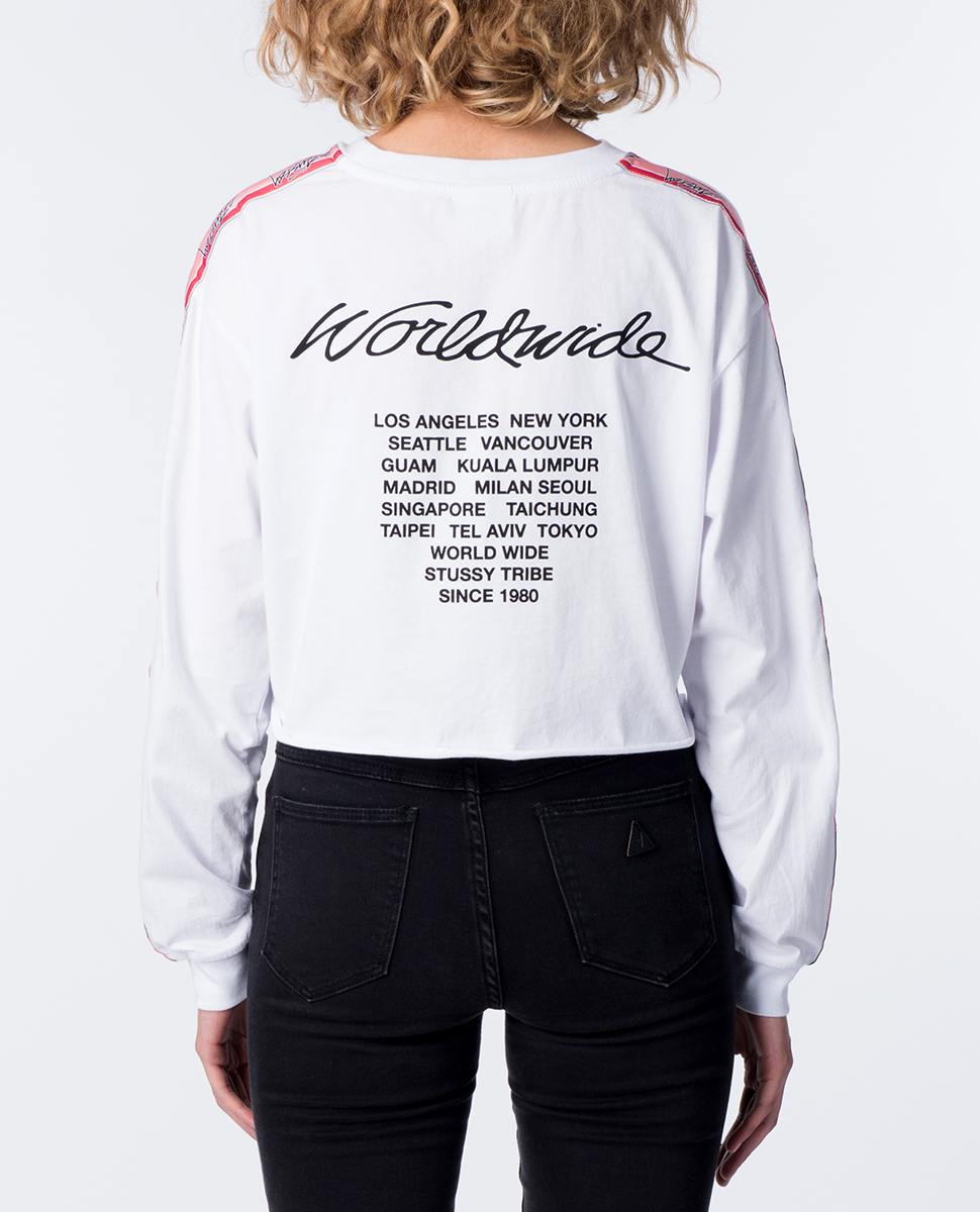 Vacation Long Sleeve Crop Tee