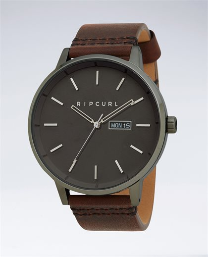 Detroit Gunmetal Leather Watch