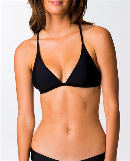 Surf Essentials Crossback Fixed Tri Bikini Top