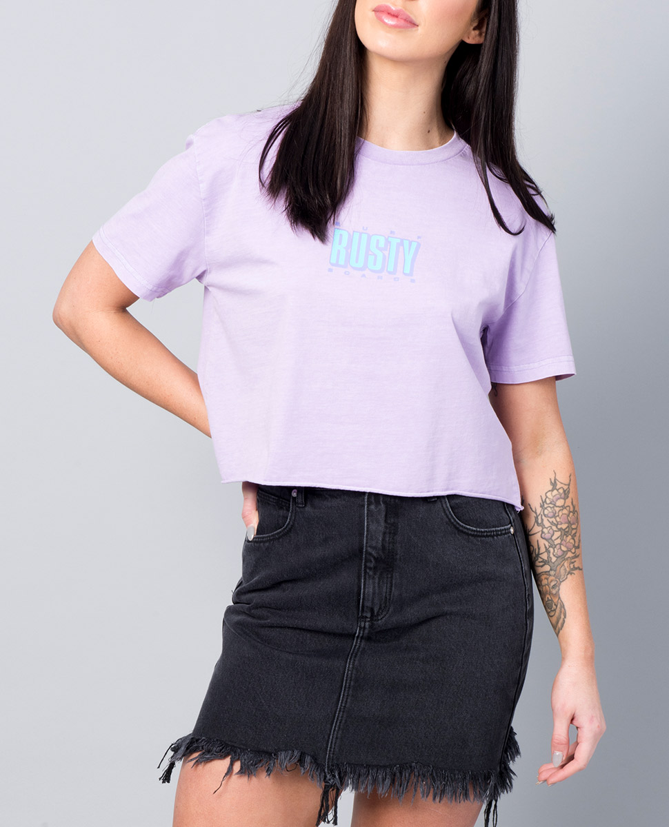 Del Mar Powder Crop Tee