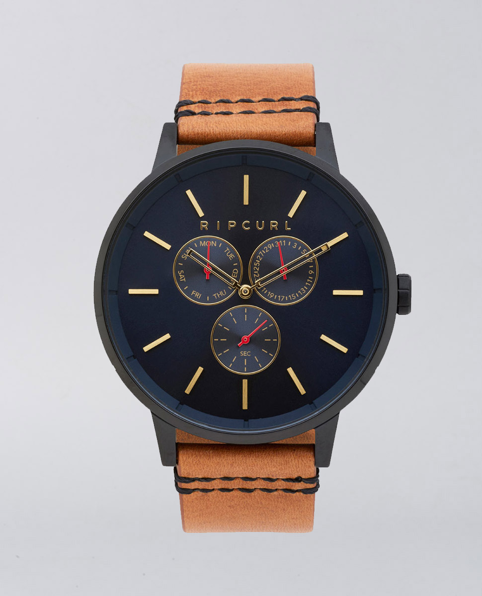 Detroit Multi Midnight Leather Watch