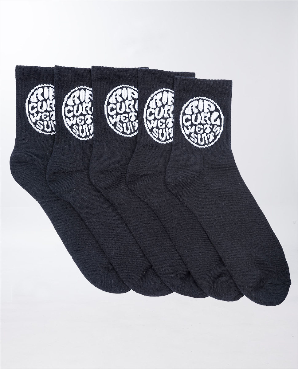 Kids Wettie Crew Sock 5 Pack