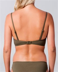 Quilted Olive Bralette Bikini Top