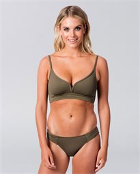 b3a43e7311 Seafolly Quilted Olive Bralette Bikini Top
