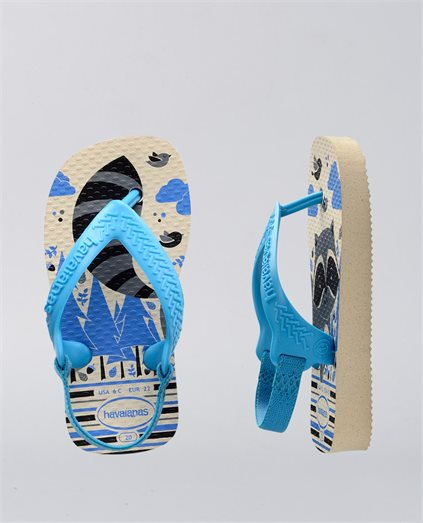 Baby Forest Pets Blue Thongs