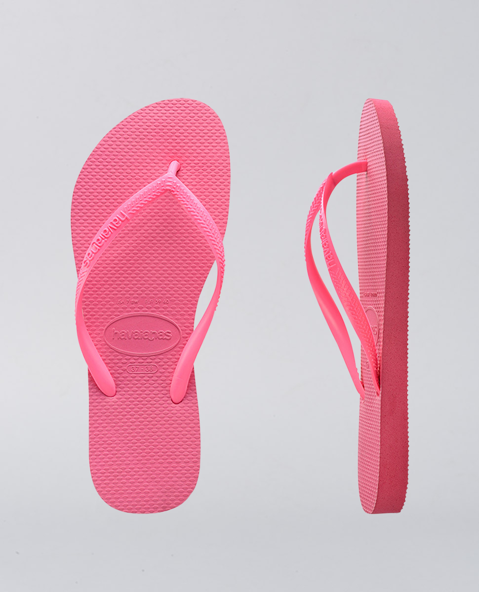 Kids Slim Basic Shocking Pink Thongs