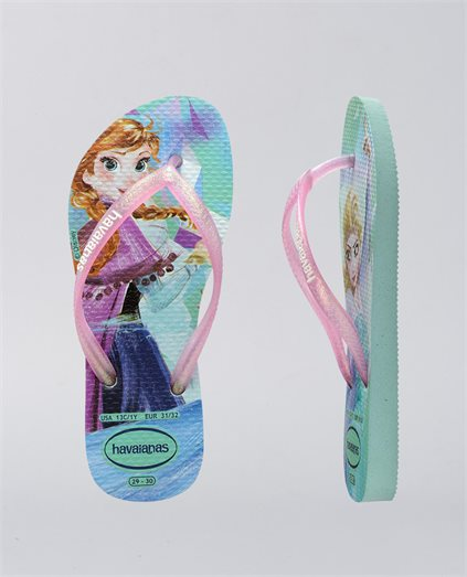 Kids Slim Disney Frozen Pink Thongs