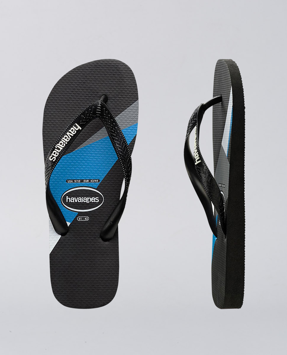 Kids Trend Black Blue Thongs