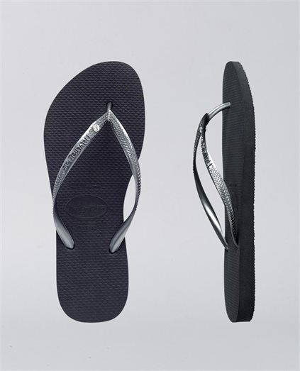 Kids Slim Crystal Grey Thongs