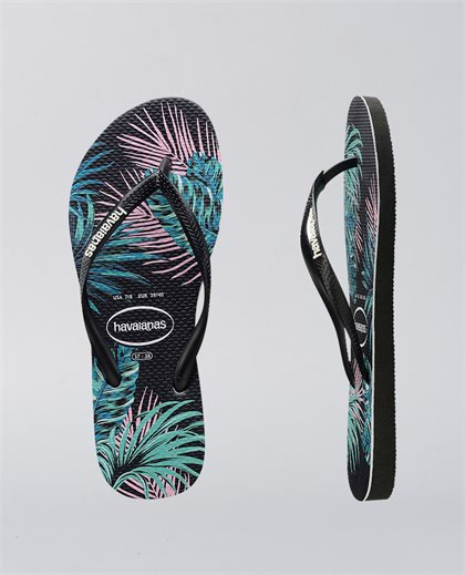 Kids Slim Floral Tropical Leaf Thongs