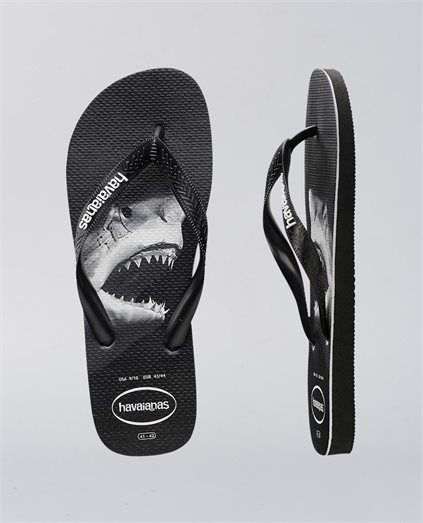 3d49b3236 Rubber Shark Logo Printed Thongs