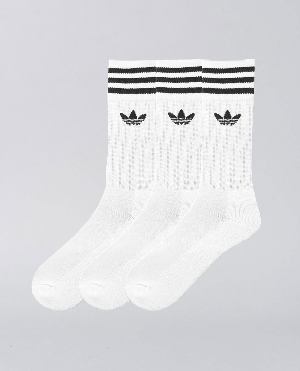 Solids Crew Sock 3 Pack