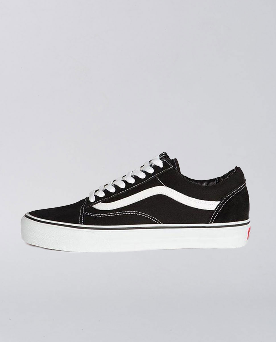 Kids Old Skool Black White Shoes