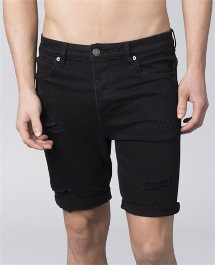 Dropped Skinny Black Short