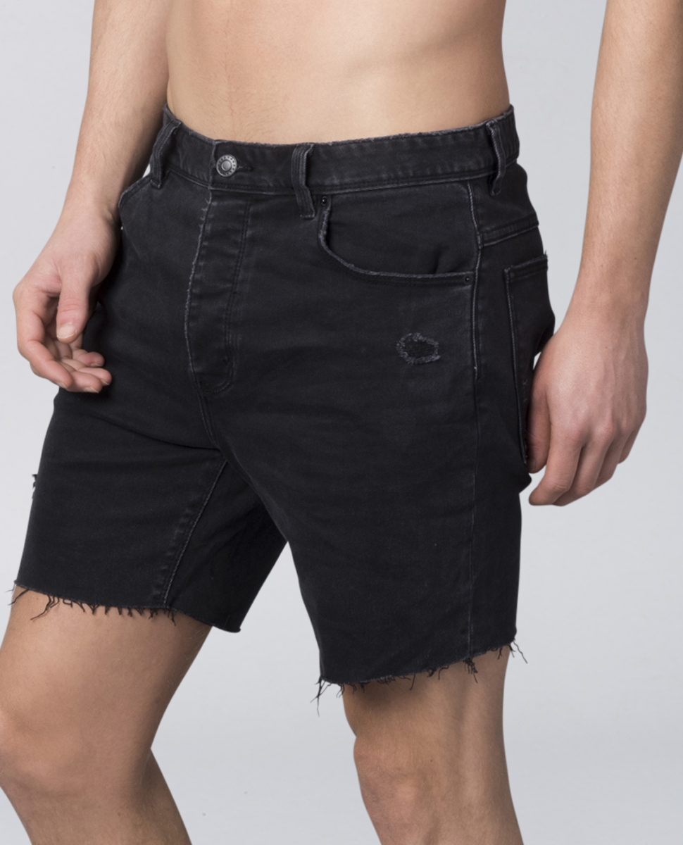 A Cropped Slim Short