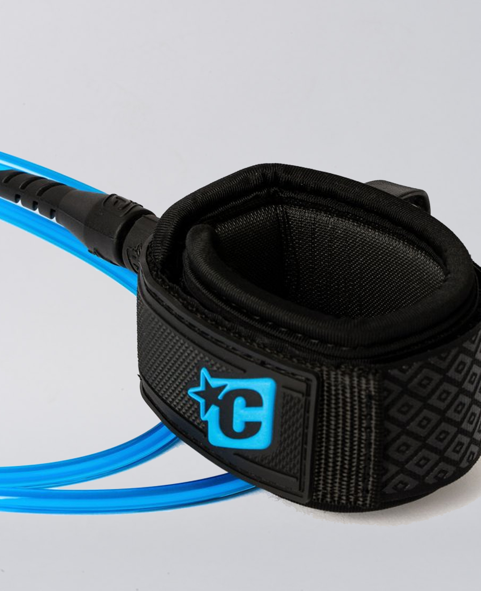Creatures Pro 6FT Wave Leash Blue Black