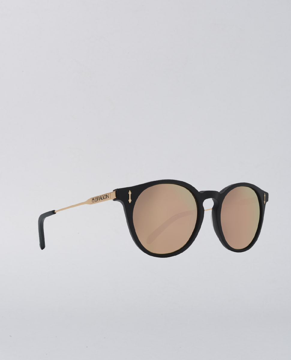 Hype Matte Black Rose Gold Sunglasses