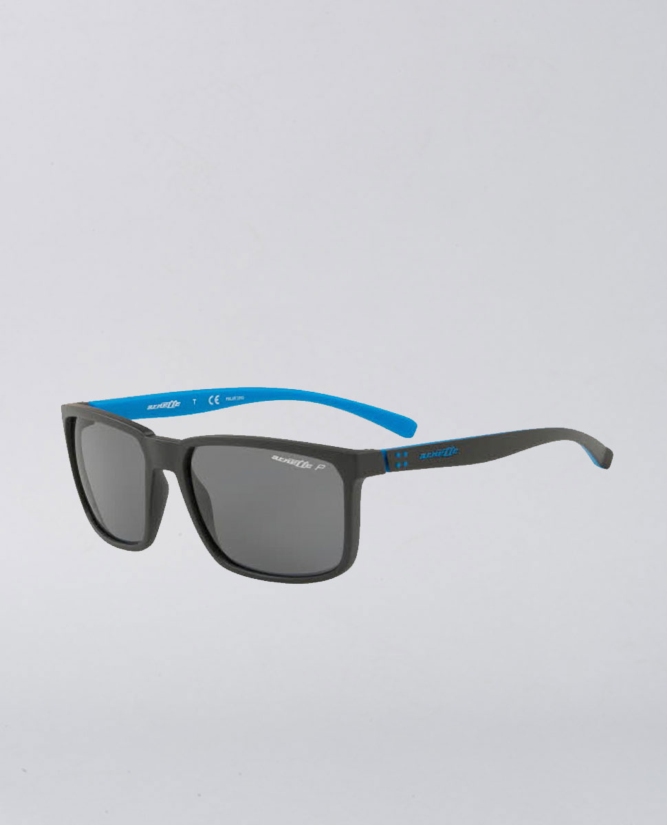 Stripe Matte Black Blue Sunglasses