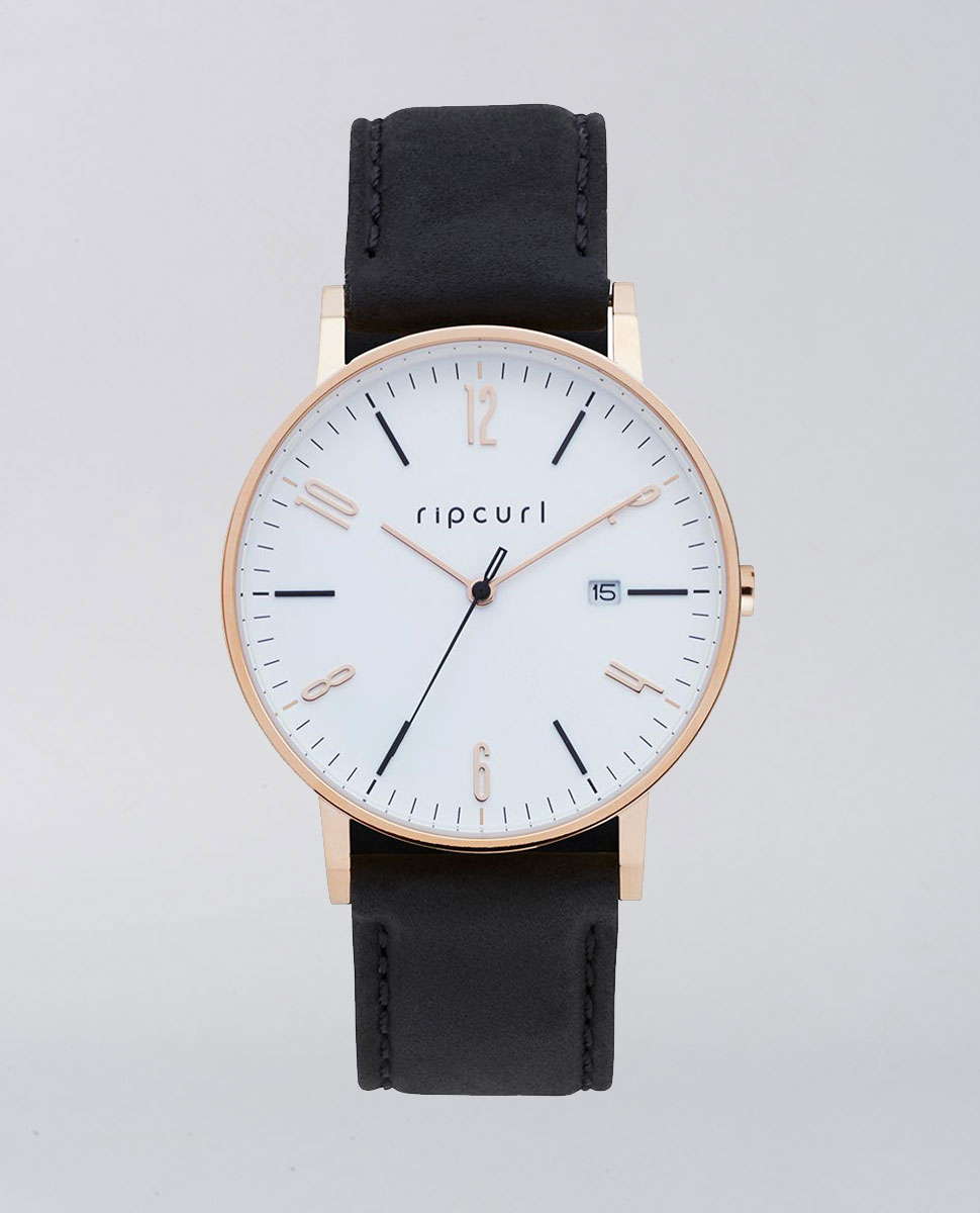 rip curl latch black leather ozmosis watches