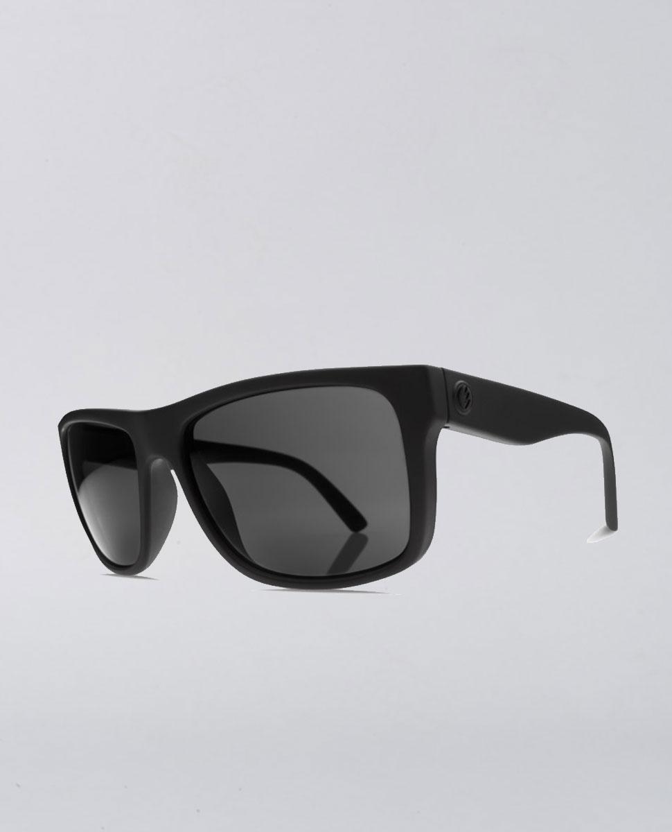 Swing Arm Matte Black Grey Sunglasses