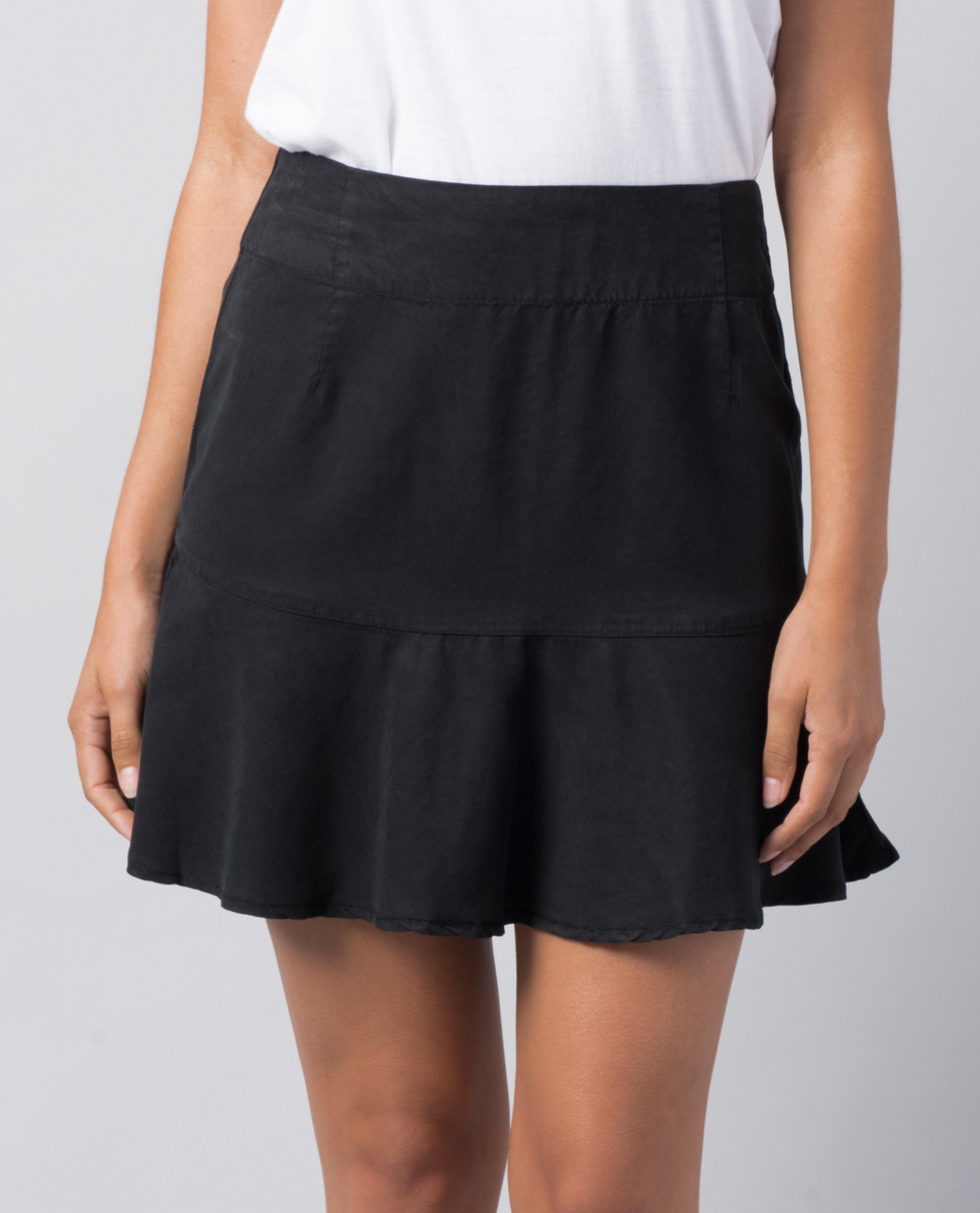 Elsa Skirt Black Linen